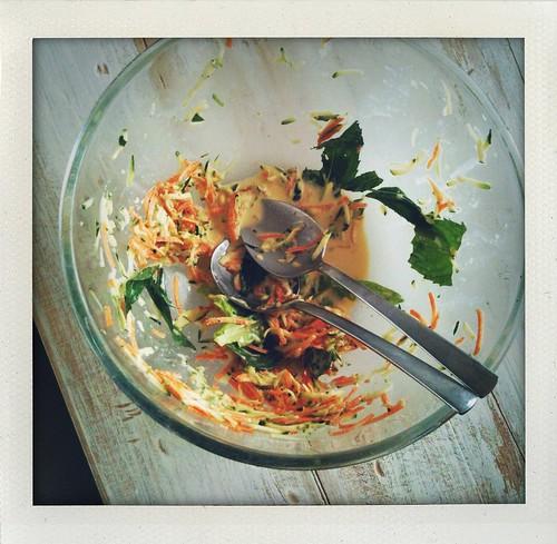 zucchini & mint summer 'slaw