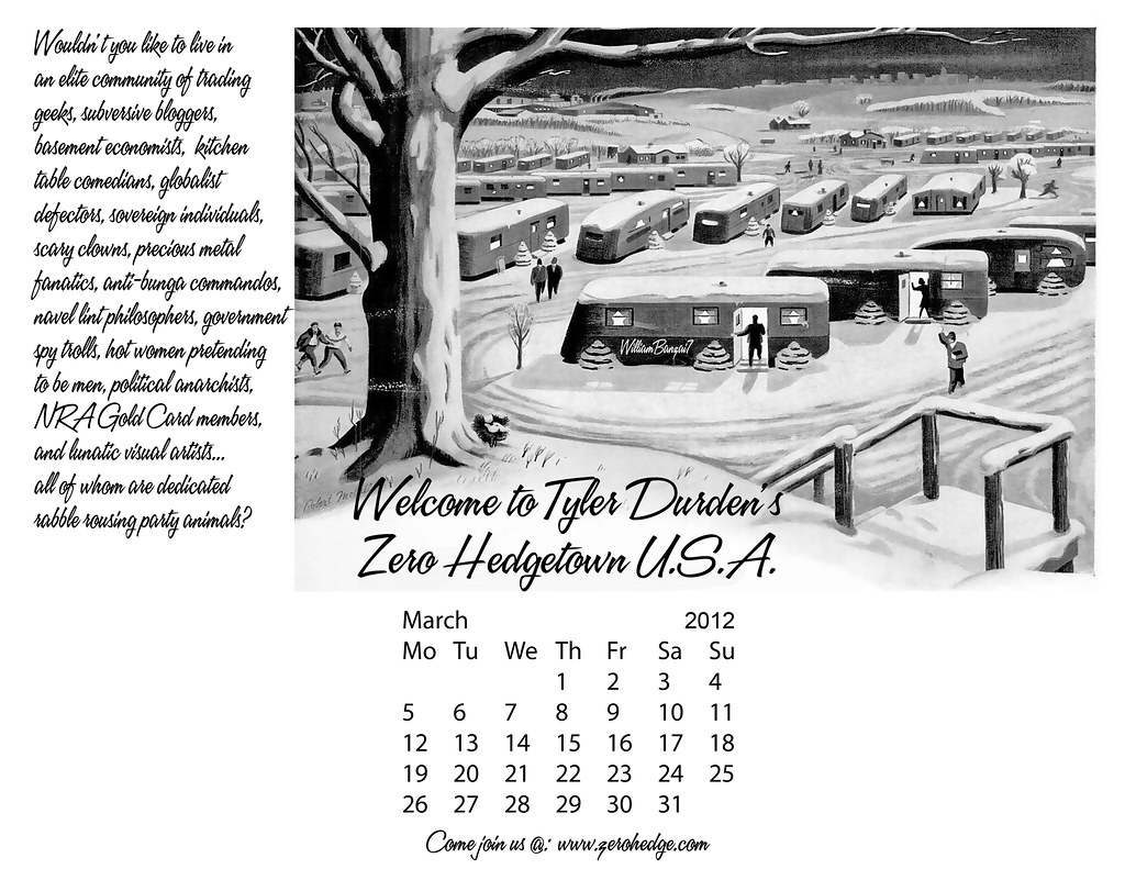 DOWNLOADABLE MARCH CALENDAR: ZERO HEDGE TOWN USA