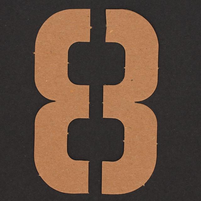 Number 8 Stencil