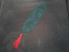Bookmark with flowers all starched and ready