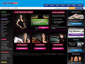 Sportingbet Live Casino Home