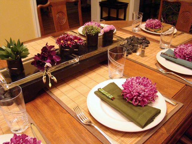 Dsc07227 Japanese Dinner Table Setting Flickr Photo