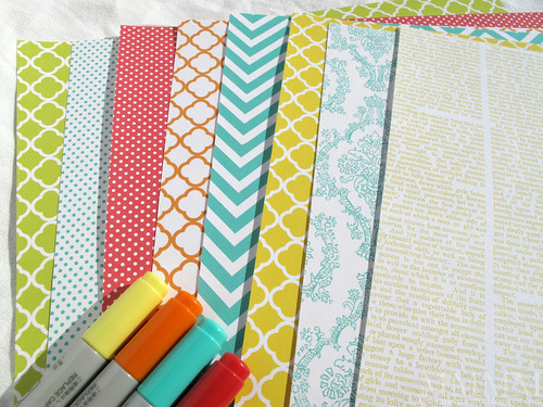 Brightly coloured paper printables mel stampz