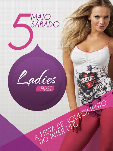 Flyer - Ladies First by chambe.com.br