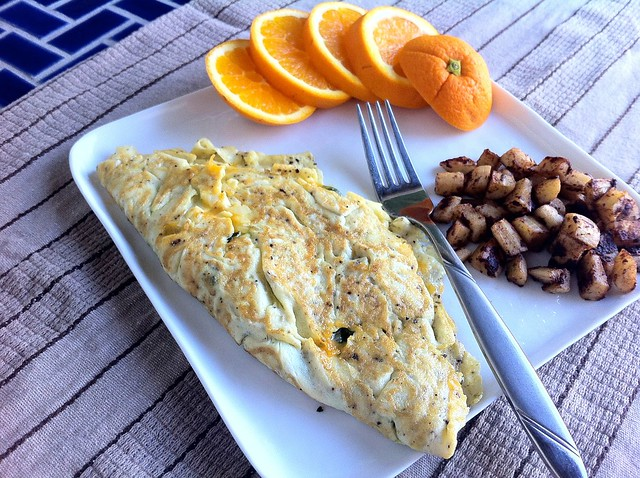 Mostly Egg White Omelette Plated