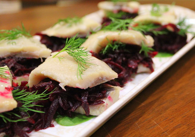 herring and beets