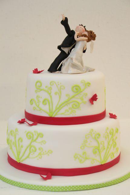 V 2 Stockige Hochzeitstorte Modern Maigrun Und Pink Swirls A Photo