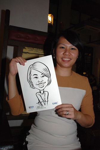caricature live sketching for emc NUS - 15
