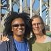 Harryetten Mullen & Barbara Henning in LA working on LOOKING UP book of interviews 10-11/10