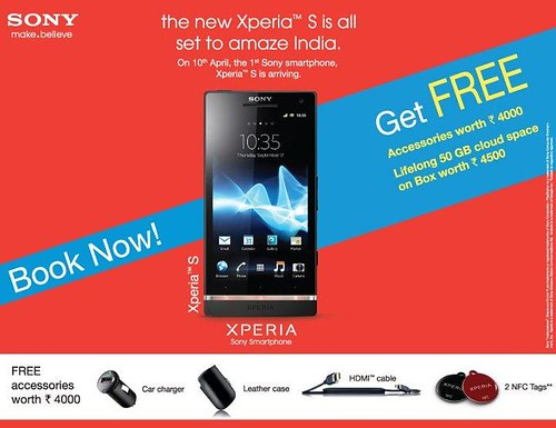 Sony Xperia S coming to India on April 10