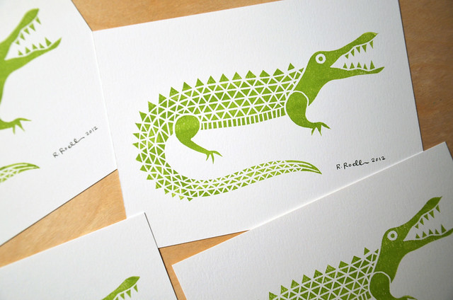 alligator mini print