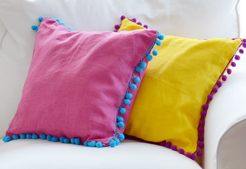 Handmade Pom Pom Cushions