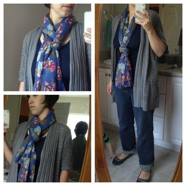 one scarf tied three ways