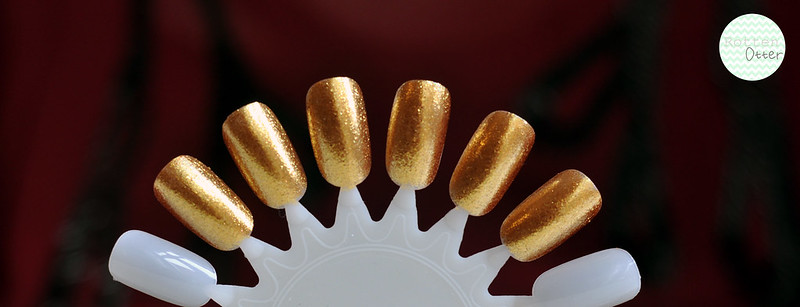 nail polish dupe opi golden eye sally hansen gilded lily gold shimmer rottenotter rotten otter blog 1