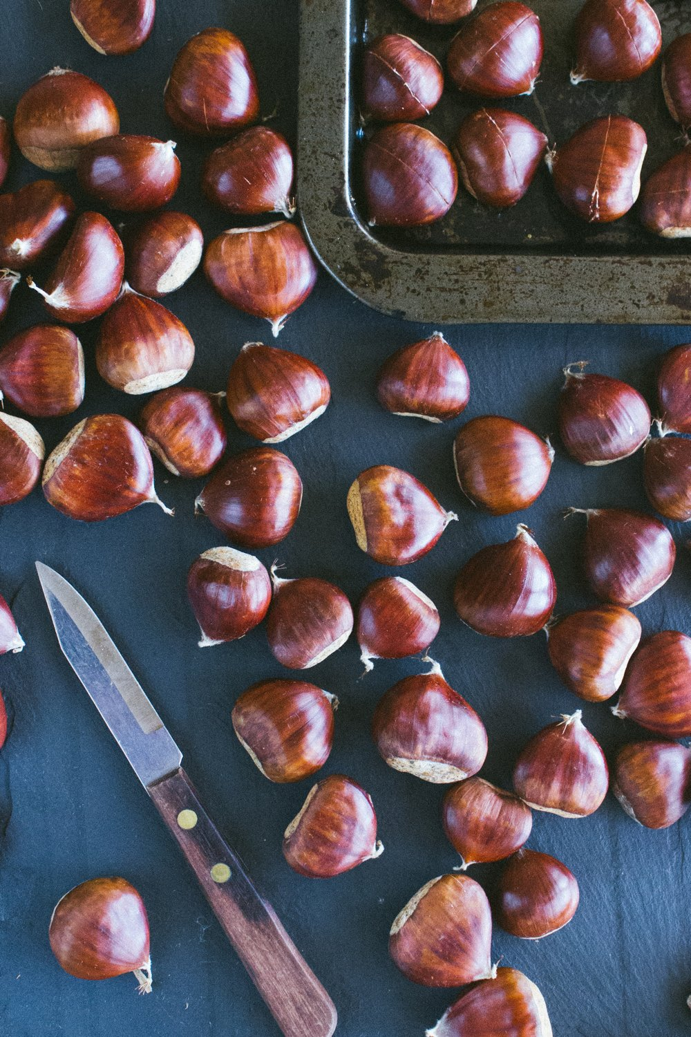Roasting Chestnuts and an Autumn Salad