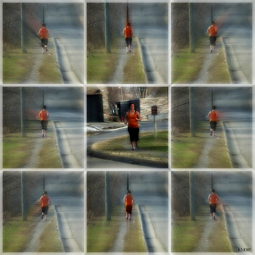 color collage sunny runner sundaymorning frontandrearview