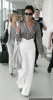 Victoria Beckham White Trousers Celebrity Style Women's Fashion