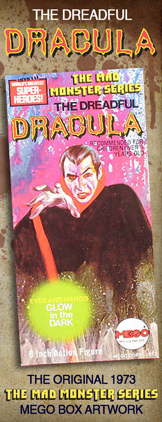 Mego Dracula Artwork by Gray Morrow.