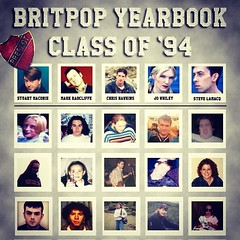 Today's #BBCBritpop Class of '94 Yearbook - I'm second from the left, bottom row.