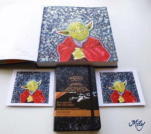 My new Yoda Handmade Mini Cards