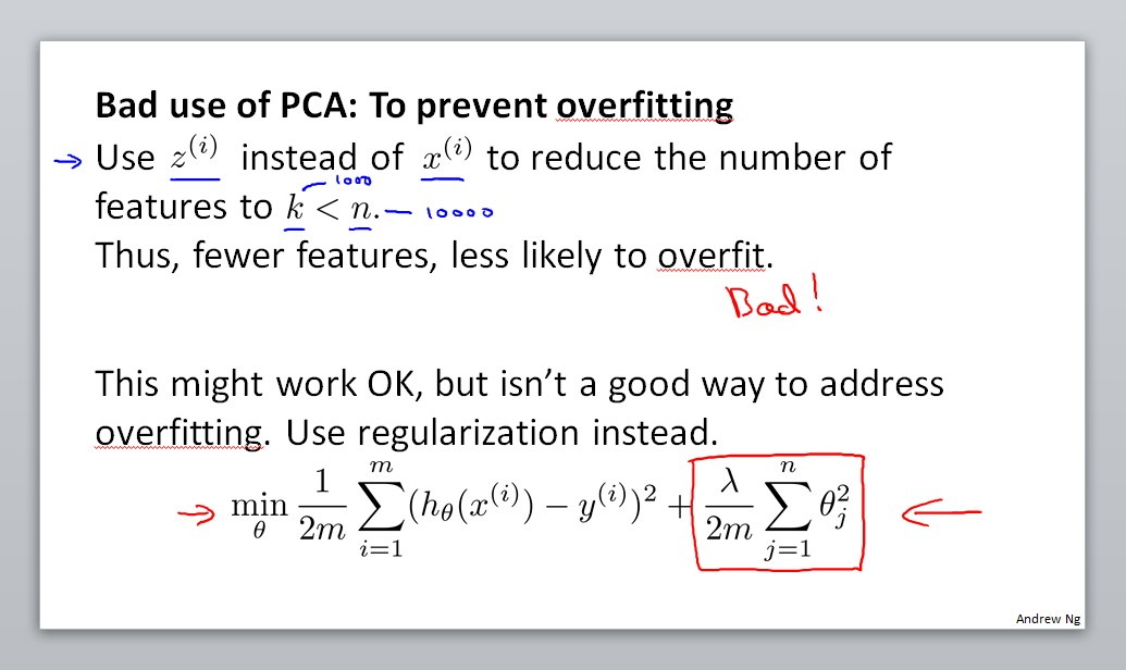 Bad use of PCA