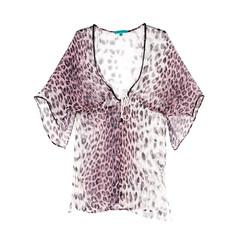 Sapphire Kaftan – Pink Leopard