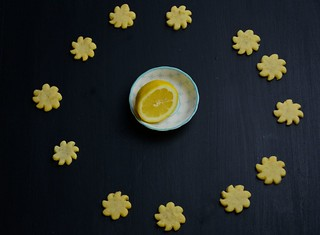 Lemon sablé cookies I