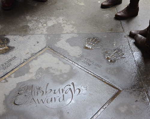 JK Rowling handprints in Edinburgh, Scotland