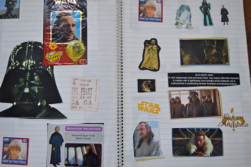From my 'Star Wars Scrapbook' of 1999