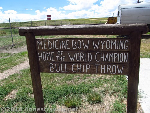 Sign at the museum welcoming visitors to Medicine Bow -