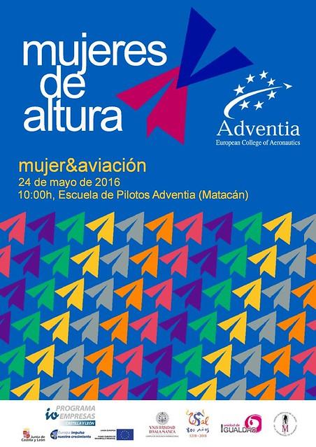 Seminario Mujeres de Altura en Adventia que se celebrará el 24 de mayo de 2016.