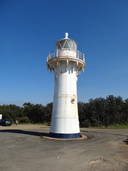 Ulladulla.  The rare wrought iron lighthouse erected at Ulladulla 1871. Moved to its current location at Warden Head in 1889.