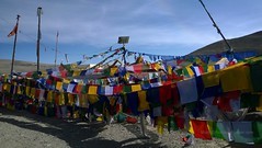 prayer flags at Lake Gurudongmar