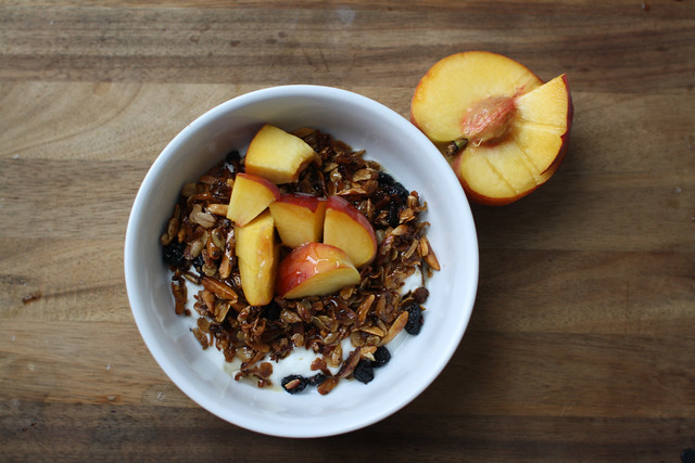 homemade granola, the friendly fox