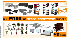 PlayStation Home_LOOT Free Furniture