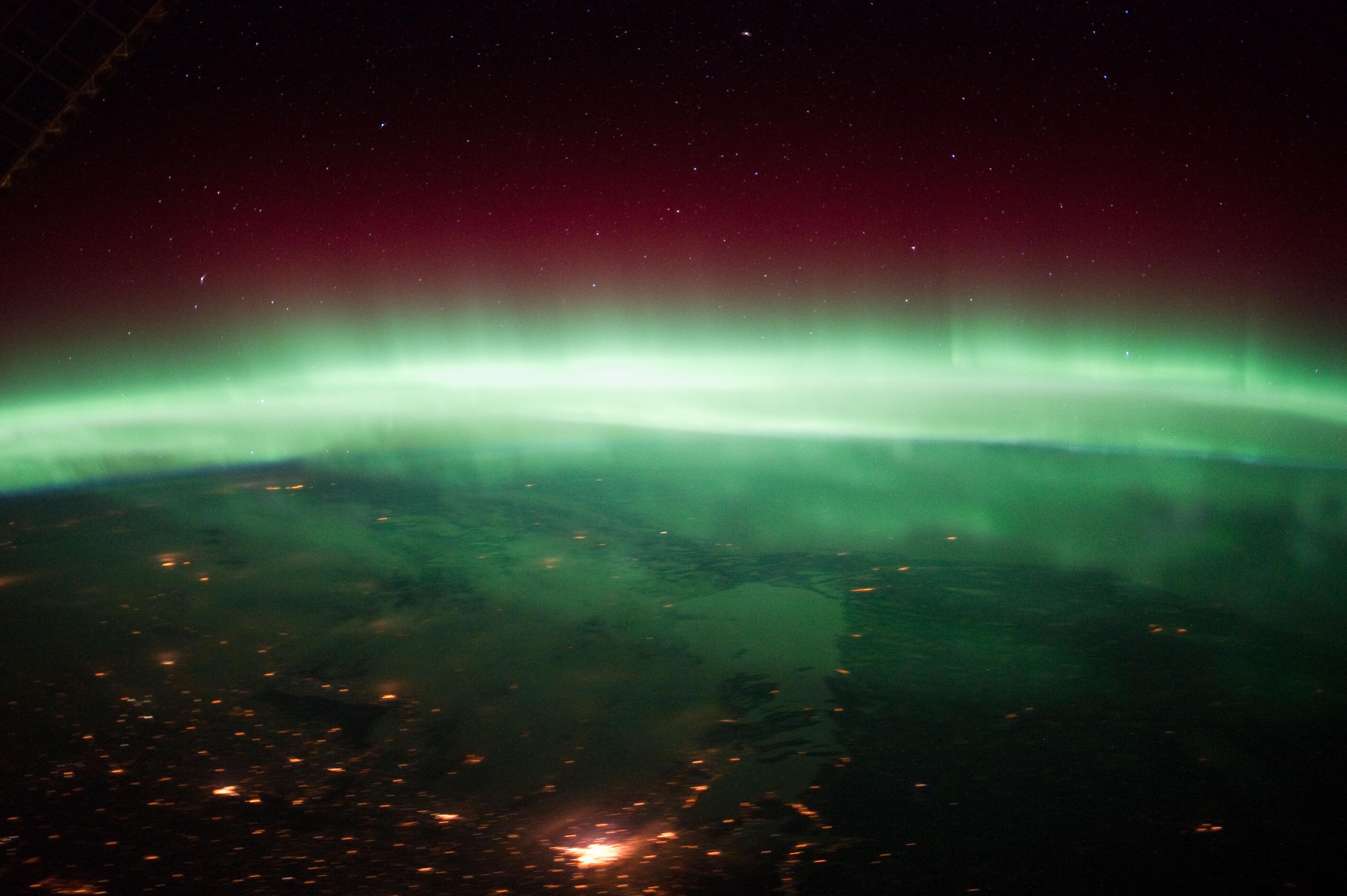 Aurora Borealis Over Canada (NASA, International Space ...