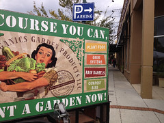 Company billboard advertisement for organic produce