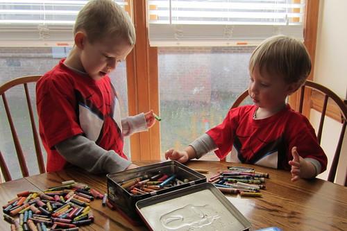 crayon sorting