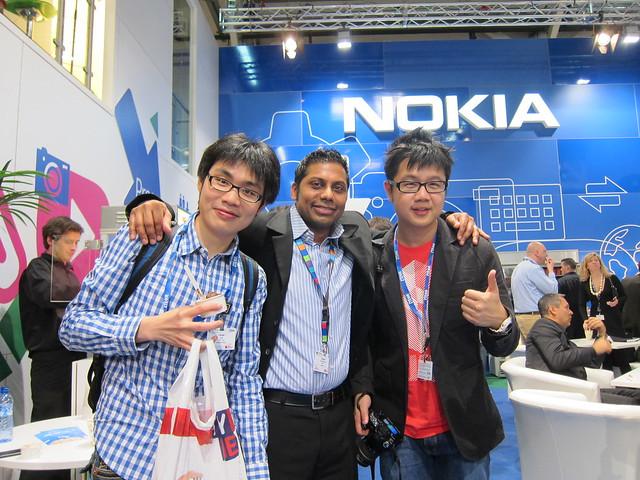 Me, Dinesh (Nokia), Jason (smashpop)