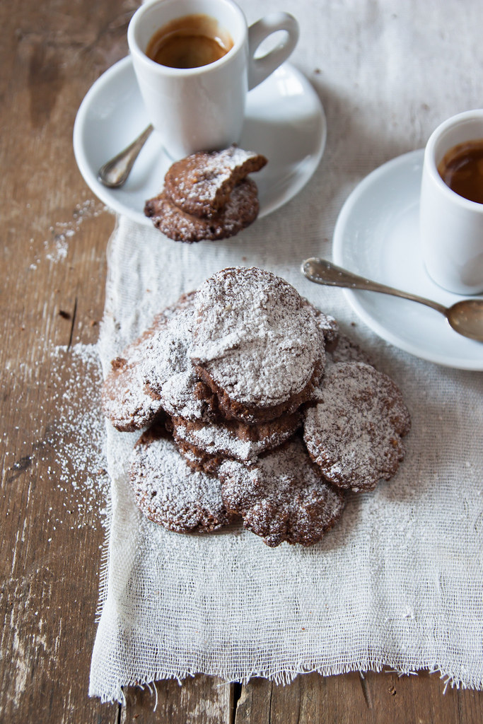 hazelnut barley cookies for coffee break