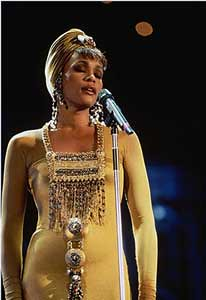 Pop icon Whitney Houston in South Africa during 1994. She was found dead on February 11, 2012 in her hotel room in Hollywood, Calif. by Pan-African News Wire File Photos