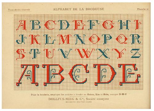 007-Alphabet de la Brodeuse1932- Thérèse de Dillmont