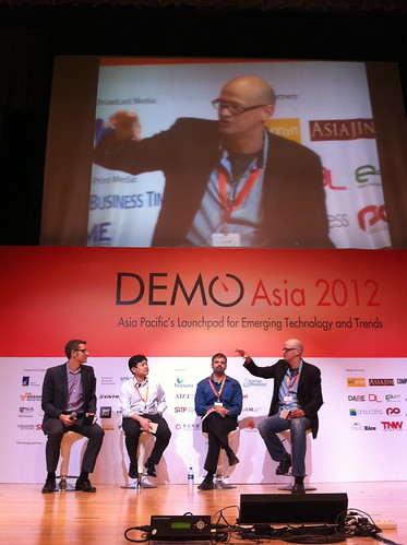 Adeo Ressi in a panel discussion at DEMO Asia 2012