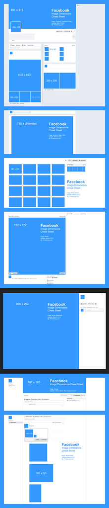 Facebook, Image Dimensions Cheat Sheet (March 2012)