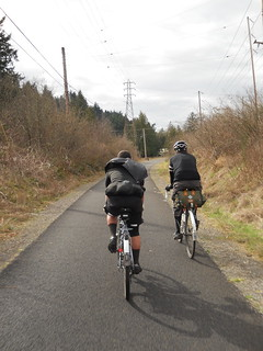 Ed & Ryan proceed homewards along the Springwater Trail