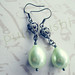 Fanciful Deluxe - Tea Green Pearl Coat Dangle Earrings