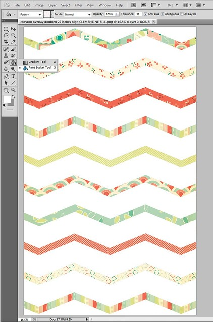 DIY chevron paper using CosmoCricket digital paper purchases & to fill zig zags in an overlay mel stampz