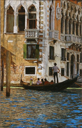"Venice oil sketch 23¾"" x 15"""