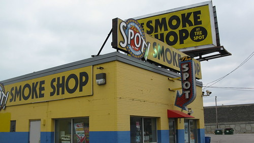 The Spot Smoke Shop on Indianapolis Boulevard.  Hammond Indiana USA. Sunday, March 4th, 2012. by Eddie from Chicago