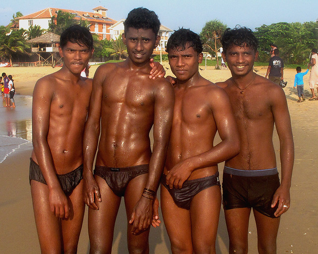 naked Sri boys lanka